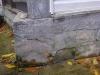 Fissures dans un mur de fondation
